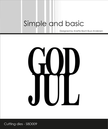 Happymade - Simple and basic - Die - God Jul (SBD009)
